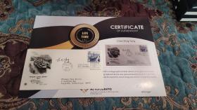 【签名封】诺贝尔物理学奖得主 杨振宁 英文签名封 附证书