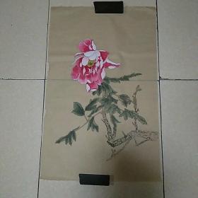 无款花鸟4平尺,,,,,,仿古纸画(010)