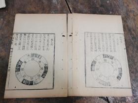 周易文献】清代刻本《翻卦挨星图诀考》一册全;有版画几幅