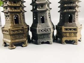 旧藏:纯铜文昌塔摆件 简介:文昌塔纯铜制作,包桨厚重,器型独特,做工精细,品像完整
