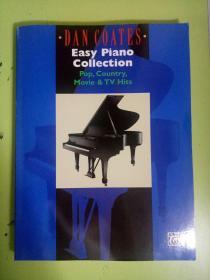 外国原版钢琴乐谱 DAN COATES Easy Piano Collection Pop,Country,Movie TV Hits