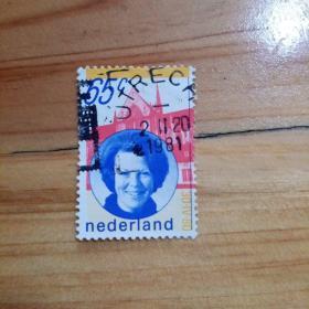 外国邮票 荷兰信销邮票1枚(乙11-3)