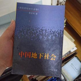 中国地下社会(清前期)