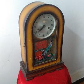 早期原版国产晶牌座钟无缺无损自然老旧上弦可走品相看图自定