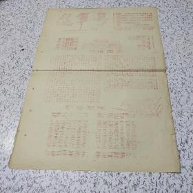 《1966年进军号第二期:欢庆国庆》油印资料一张