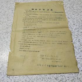 """《1966年致全国""""红卫兵""""》油印传单一张"""