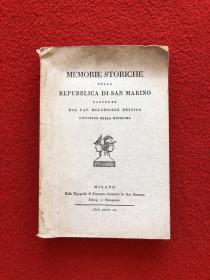 memorie storiche della repubblica di san marino dal cav melchiorre delfico