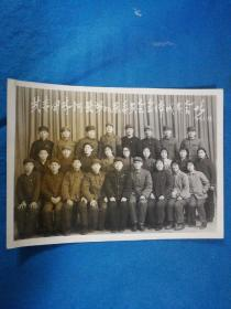 老照片,1979年共青团齐河县第九届委员会全体成员合影---尺寸16x11.5厘米