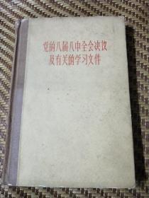 《 党的八届八中全会决议及有关的学习文件 》 精装(徐慎行签名(原中国人民银行上海银行行长)并批校