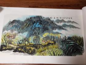 纯手绘国画山水(可见春山石径斜)