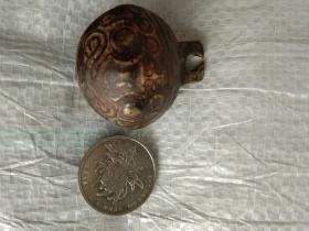 清代铜虎头铃铛。稍大点的。包浆自然
