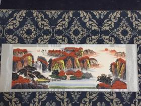 名人手绘万山红遍山水画2.1米X0.80米