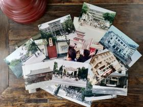 八十年代西安彩色老照片,内容包含易俗社、钟楼、火车站、革命公园、人民体育场、光明电影院等。一共16张。