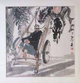 中美协会员李尧天老师斗方精品有合影