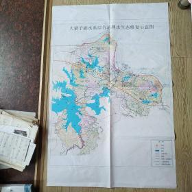 大梁子湖水系综合治理水生态修复示意图