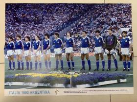足球海报 1990世界杯阿根廷队/马拉多纳