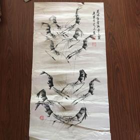 艾廷隽国画【98厘米x50厘米】