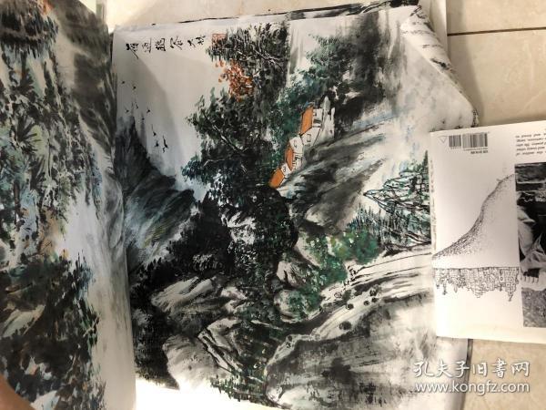 画家 佘德林  山水画一副12