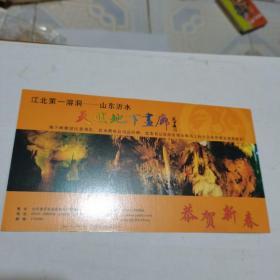 2005年中国邮政贺年(有奖)天然地下画廊企业金卡明信片-