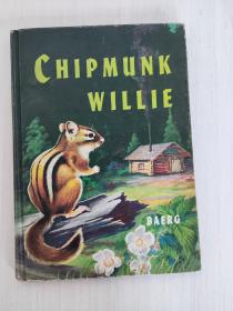 Chipmunk Willie By Harry Baerg illustrations by the Author 1958年 英文原版精装 彩色插图