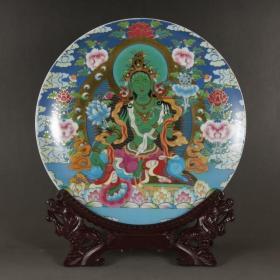 80 90年代唐卡佛像瓷盘
