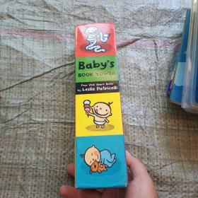 Baby's Book Tower: Four Mini Board Books  外文版  实物拍图 请看图
