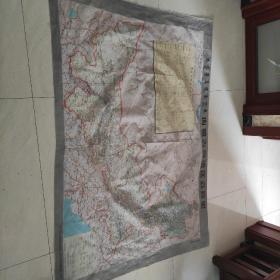 内蒙古自治区公路图  布制