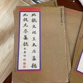 北魏皇家墓志选编(6):北魏文昭皇太后墓志 北魏元恭墓志