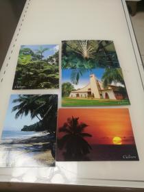Gabon加蓬共和国--明信片-5张