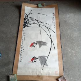 安徽著名画家(应祚智)国画,原裱镜片