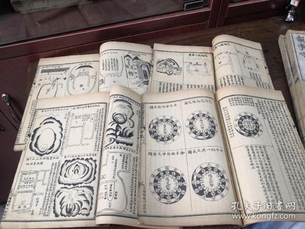 清末民国印本  数术风水秘术《增补地理直指原真》四册全