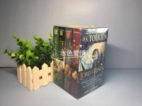 全新塑封指环王霍比特人美版电影封面版蓝盒四册平装合集the lord of the ring hobbit trilogy box