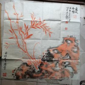 卢蓉,竹,惠风和畅,长安楼,68*68cm左右