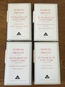 In search of lost time (4 volumes )追忆似水年华 (全4册)Marcel proust 马塞尔普鲁斯特 Everyman's Library 人人文库