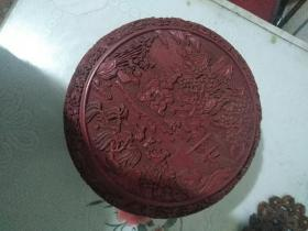 清中期雕漆捧盒(大清乾隆年制款)