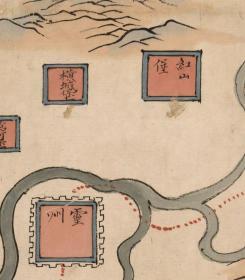 古地图1855 甘肃舆图。纸本大小210.77*117.79厘米。宣纸艺术微喷复制。680元包邮