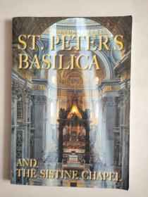 ST. PETER'S BASILICA AND THE SISTINE CHAPEL 英文原版 16开 彩色图文 全铜版纸,书中夹一信封内有2张意大利明信片