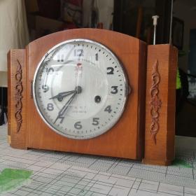 火炬牌闹钟  老座钟    零件齐全  31×22公分 厚度12公分
