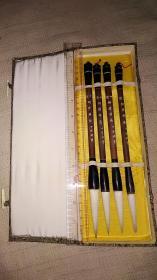 老毛笔;中国湖笔      挺进娟秀一盒  光锋羊毫大笔4支