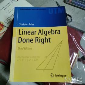 Linear Algebra Done Right Third Edition线性代数应该这样学,第3版,英文版大16开,