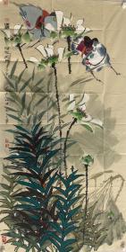 【终身保真名家字画】邹士华    四尺整张!                         现为北京美协会员、高级美工师、午马画院院长、毕业于北京教育学院艺术系
