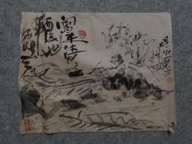 成都名家 国画人物 怀素画蕉 原稿手绘真迹