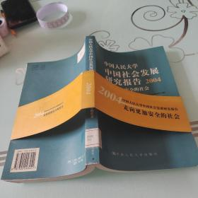 中国人民大学中国社会发展研究报告2004:走向更加安全的社会