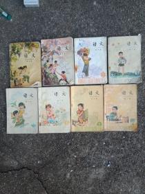 五年制小学课本语文3一10册,共8本