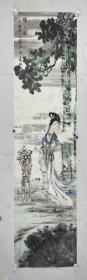 王锡麒 尺寸 138/34 软件 1938年生于苏州,幼喜丹青,自学至今。对吴门画派唐寅、仇英画风有深研,擅长人物画。所作秀逸清新、格趣高古、自创新意。现为江苏省国风书画院副院长、苏州画院副院长、苏州吴门书画院院长、中国民主同盟苏州书画会会长。江苏省美协会员,中国工艺美术家学会会员。高级工艺美术师。