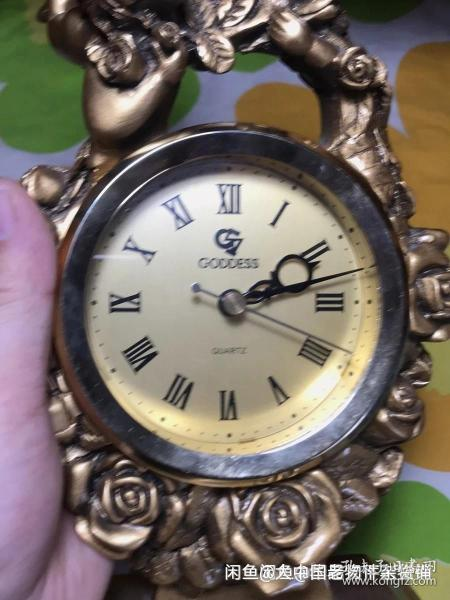 树脂仿古电子天使座钟 品相如图不退不换,走时正常