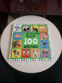First 100 Animals Lift-the-Flap我的第一本100种动物书(翻翻书)