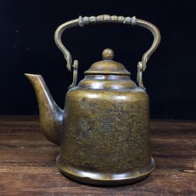 民国纯铜老茶壶
