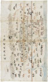 古地图1901 山海关地舆全图。纸本大小42.6*72.64。宣纸艺术微喷复制。100元包邮