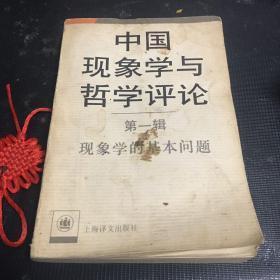 中国现象学与哲学评论第一辑现象学的基本问题